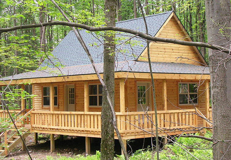 Cabin Plans With Wrap Around Porch From Land And Camps