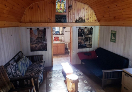 Camps For Sale NY Lincklaen NY Cabin Living Room From Land And Camps