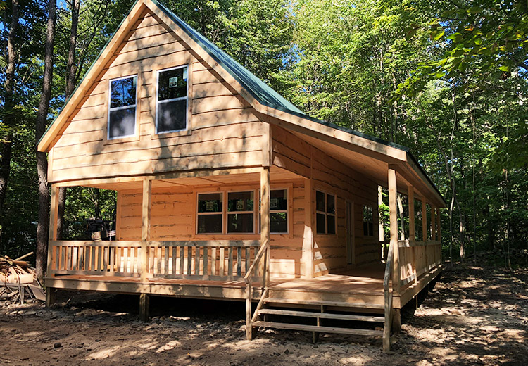 Cabin Packages Ny Wrap Around Porch From Land And Camps